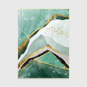 Image 4 - Nordique abstrait vert foncé doré texture maison chambre chevet entrée ascenseur tapis de sol canapé table basse tapis antidérapant
