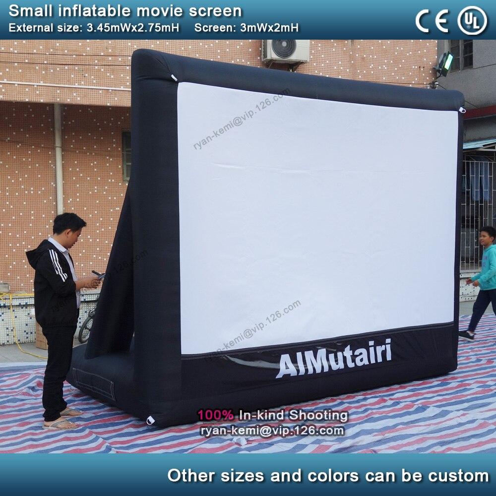 3 м передняя задняя проекция надувной киноэкран маленький надувной киноэкран вечерние надувные телевизионные кинотеатры с воздуходувкой
