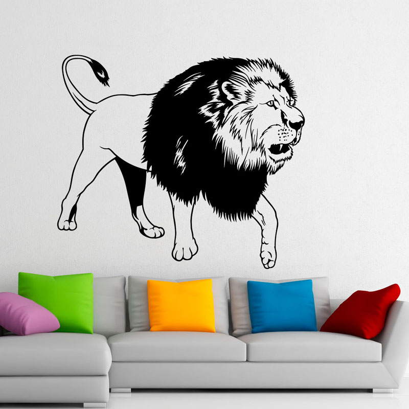 Fashion Animals Wall Stickers Home Decor Lion King Vinyl Wall Stickers Art  Design Removable Mural For
