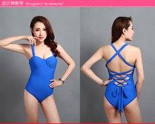 swimwear female swimwear one piece Women Beach Swimsuit Brazilian Girls Open Back Bandaged Romper Maillot De Bain Femme