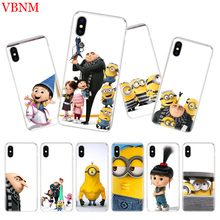 Minions Gru Agnes Silicome Phone Case For iPhone 7 8 6 6S Plus X 10 Ten 9 XS MAX XR 5 5S SE Art Customized Cover Cases Coque