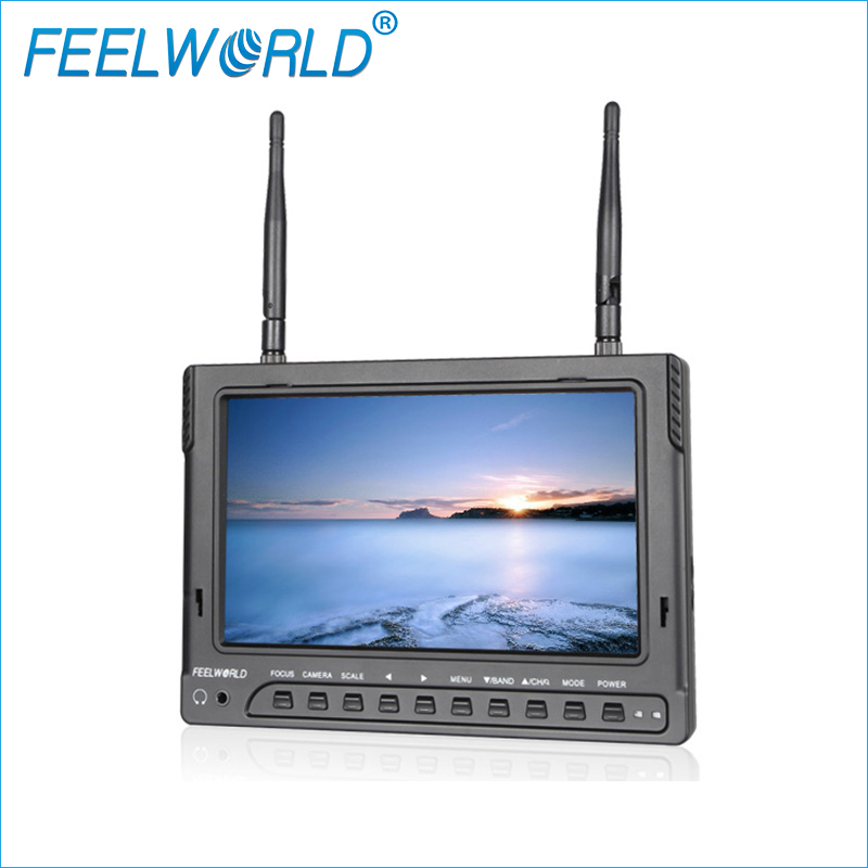 Feelworld FPV732 7 Inch 1024x600 IPS FPV Monitor with Built-in Battery Dual 5.8G 32CH Diversity Receiver Wireless UAV Monitor rx lcd5802 all in one 7 inch white edition 40ch diversity 5 8ghz fpv wireless diversity monitor with built in battery and osd