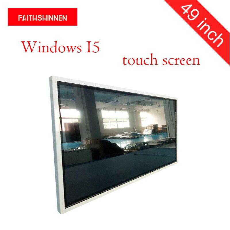Joueur de publicité de Signage numérique fixé au mur de 49 pouces, kiosque d'affichage de publicité écran de publicité de Windows I5 de 1080 p