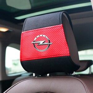 Image 1 - غطاء مسند رأس جديد للسيارة مع جيب للهاتف مناسب لأوبل أسترا H G J Insignia Mokka Zafira Corsa Vectra C D antra تصفيف السيارة