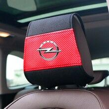 חדש רכב משענת ראש כיסוי עם טלפון כיס fit עבור אופל אסטרה H G J Insignia Mokka Zafira Corsa Vectra C D Antara רכב סטיילינג