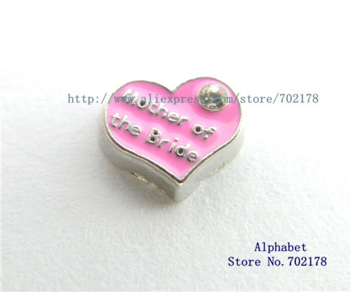 Mother Of The Bride Pink Heart Wedding 10pcs Floating