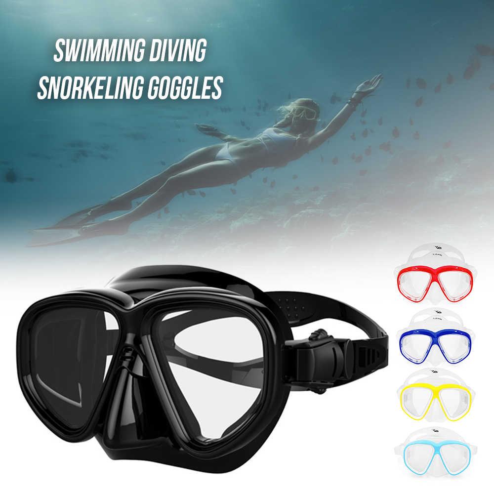 عالية الجودة جديد معدات غطس السباحة قناع الغطس نظارات تشديد الزجاج المقسى Spearfishing قناع غوص