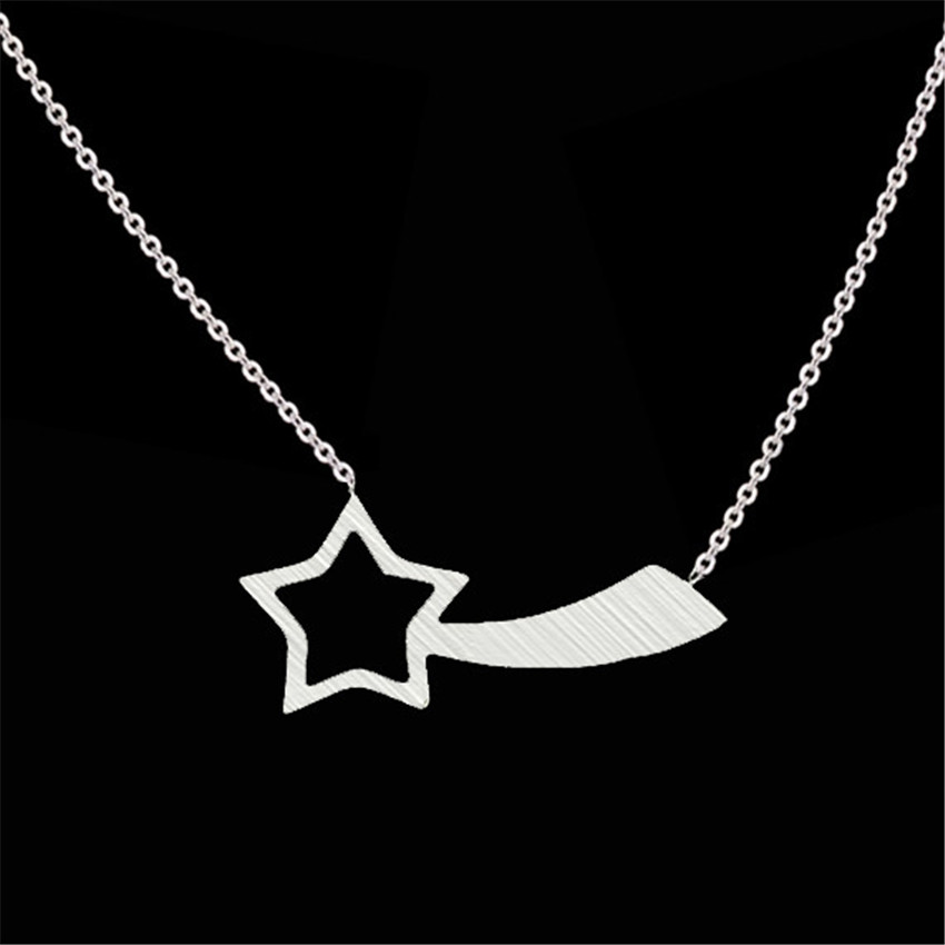 10pcs Stainless Steel Vintage Meteor Star Charm Necklace Women Birthday Gift Magic Hanger Chain Choker Pendant Necklaces Jewelry