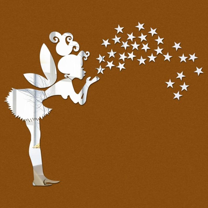 Star Mirror Wall Decor online get cheap acrylic mirrored star decorative sticker