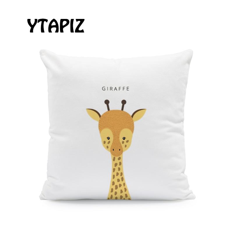 Giraffes Funda para coj/ín con dise/ño de globo y mariposas