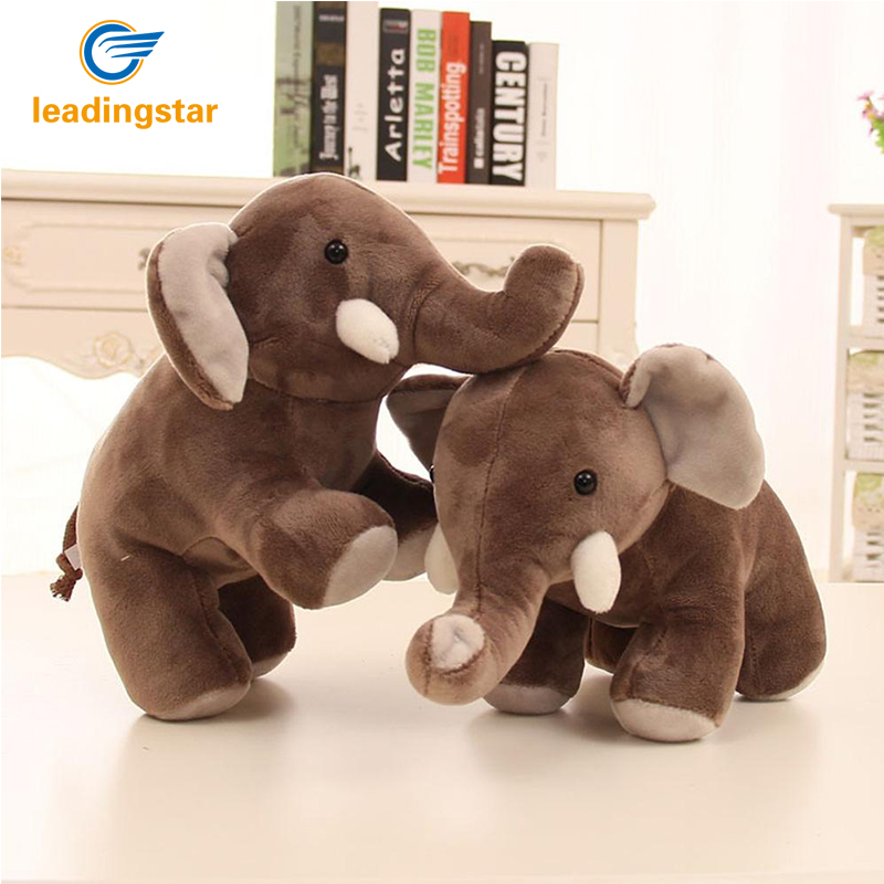 LeadingStar 30cm Cute Large Stuffed Plush Toy boo elephant Simulation Elephant Doll Throw Pillow Birthday Christmas Gift zk15 cute cartoon ladybird plush toy doll soft throw pillow toy birthday gift h2813