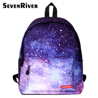 2017 Galaxy Women Men Backpack Female Teenage Girl School Bag Casual Laptop Male Bagpack Mochila