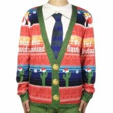Funny Felie Navidad Cactus Printed Ugly Christmas T Shirt for Men Spanish Shirts Xmas Vacation Party Tee Plus Size