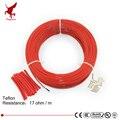 100 meter 17ohm 24 K niedrigen kosten hohe qualität Teflon PTFE carbon faser heizung draht Heizung kabel Infrarot boden heizung system
