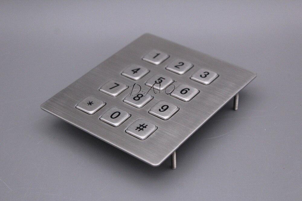 Teclado industrial robusto mecánico con 12 teclas IP65 3x4 Kiosk - Periféricos de la computadora - foto 2