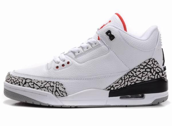 JORDAN Chaussures de Basket-Bas aider JORDAN Sneakers 4 couleur Hommes Chaussures de Basket-Ball Jordan 3