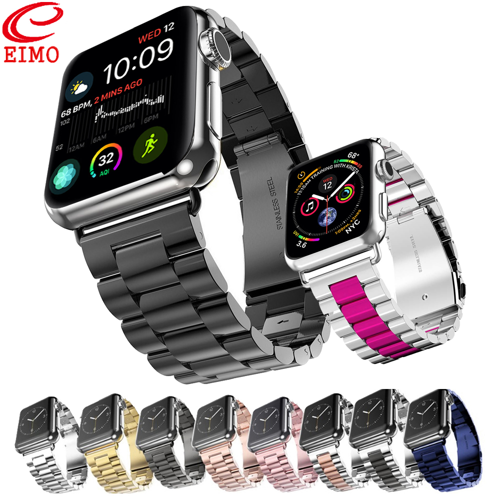 EIMO Strap Für Apple Uhr band 4 42mm Iwatch band 38mm 44mm 40mm bügel Aus Stahl link Armband Armband Zubehör