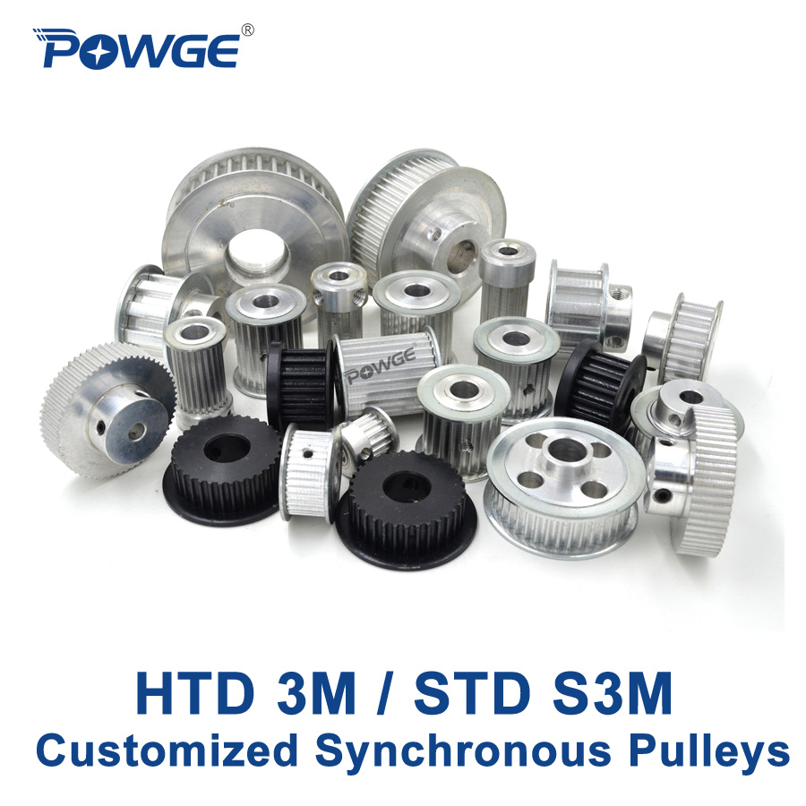 POWGE Arc Teeth HTD 3M STD S3M Timing pulley pitch 3mm wheel Gear Manufacture Customizing all kinds of 3M S3M Synchronous pulley
