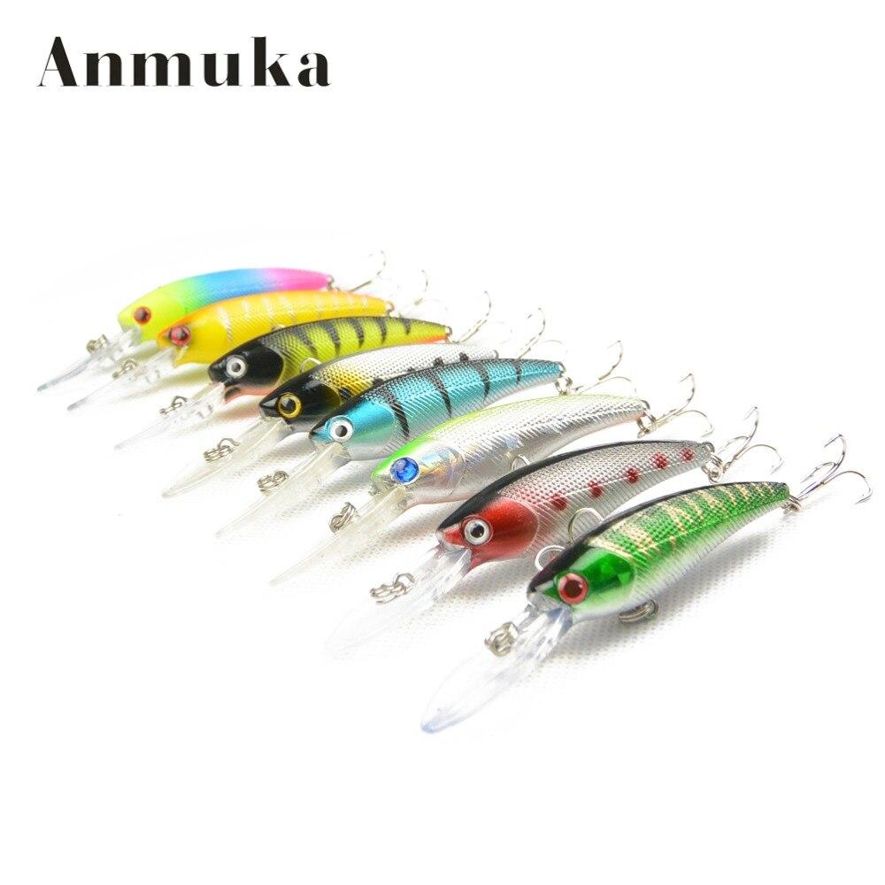 Anmuka 85mm 8.4g/pc Minnow Grank Bait Fishing Hard Lures Fishing Equipment Bait Casting Lure