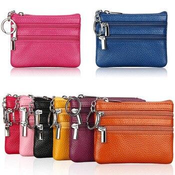 Модный кожаный женский кошелек, клатч, один/два, на молнии, женский короткий маленький кошелек для монет, новый дизайн, мягкий мини-кошелек д...