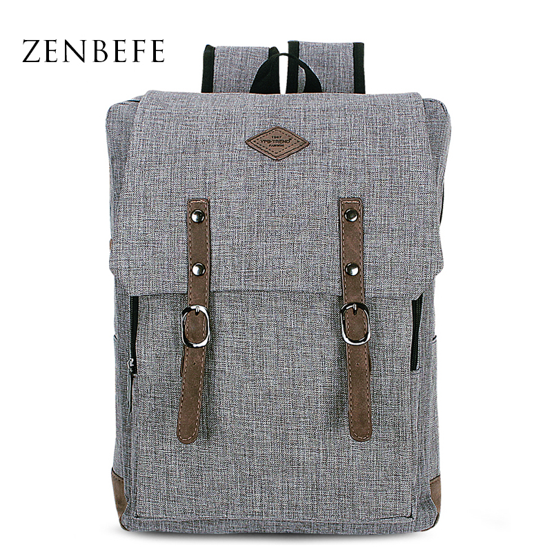 ZENBEFE New Designed Backpacks For Laptop Linen Backpack School Bags For College Waterproof Backpacks Notebook Computer Bags 14 15 15 6 inch flax linen laptop notebook backpack bags case school backpack for travel shopping climbing men women