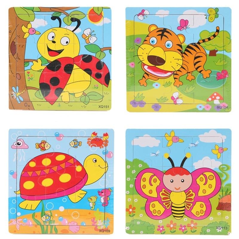2 pcs enfants en bas âge jouet éducatif cadeau animaux de dessin - Jeux et casse-tête - Photo 4