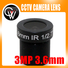 5pcs/lot 3.0 Mega Pixel HD 3.6mm Lens CCTV Board Lens For CCTV Security ip Camera Free Shipping