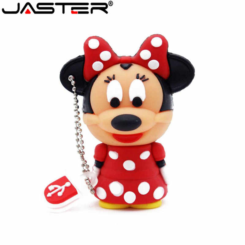 JASTER Bonito Mickey Minnie mouse USB Flash Drive Pendrive 4GB GB 16 8GB USB Stick de Memória de Armazenamento Externo pen Drive 6 cores