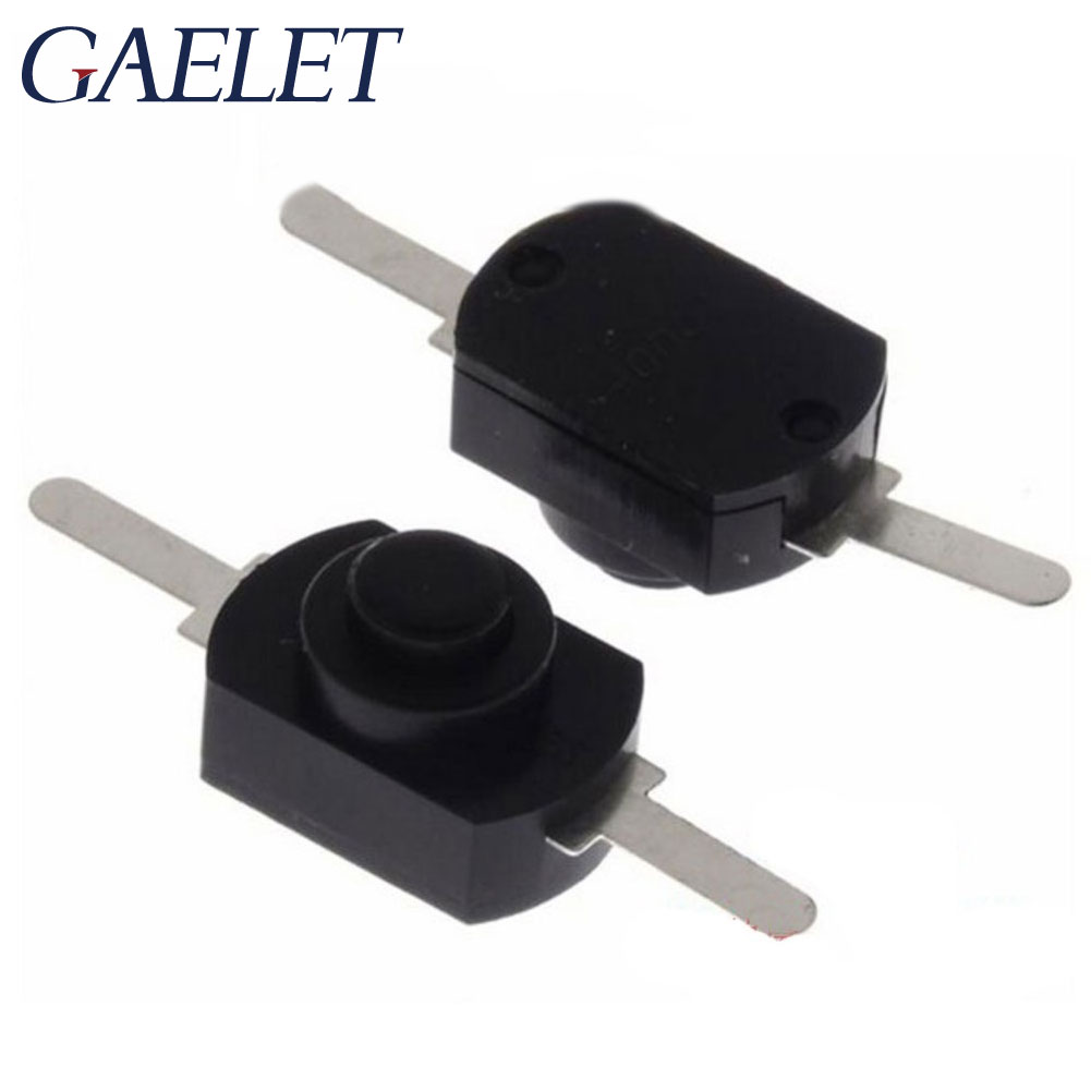 10PCS 1208YD Flashlight Switch 12*8MM DC 30V 1A Black On Off Mini Push Button Switch for Electric Torch ZK30