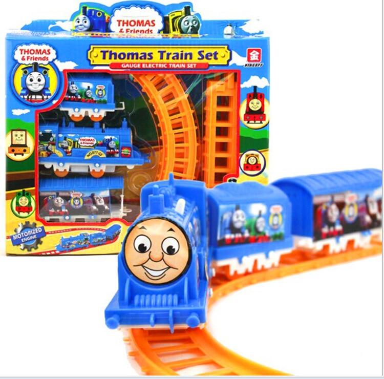 1 Set Thomas Train Toys Mini Electric Rail Train Set Track ...