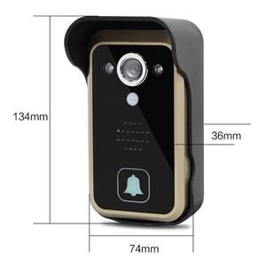 Image 4 - Hot 2,4G wireless video türklingel drahtlose tür video intercom telefon tür glocke intercom Kamera 7 zoll monitor schwarz weiß farbe