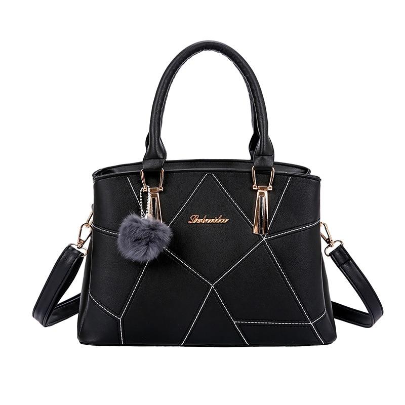 Bag Women Handbag PU Leather Tote Bag Ladies Designer Patchwork Handbag Female Large Shoulder Bag