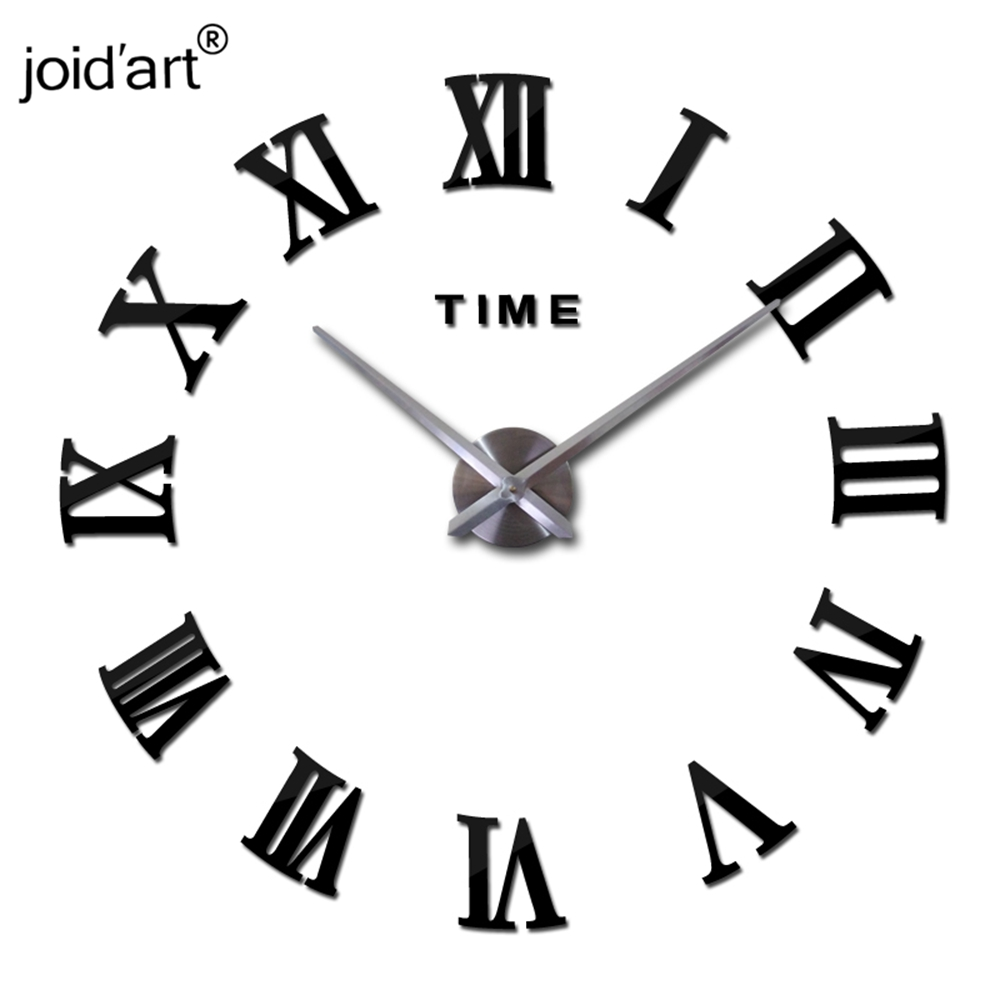 2017 New Real Metal 3d Diy Acrylic Mirror Wall Clock Watch