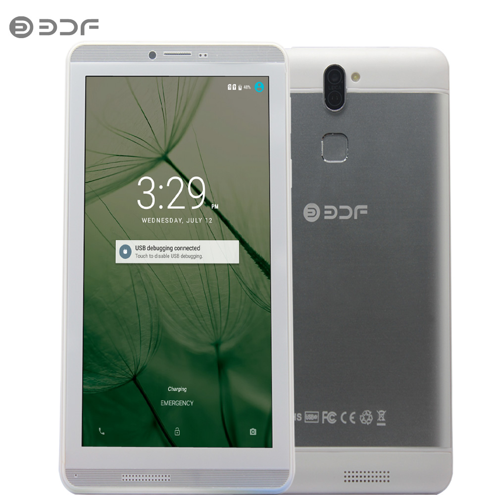 2018 New 7 Inch Android 6.0 Quad Core 3G Phone Call Dual SIM 16GB Tablet Pc Wifi Bluetooth Metal Shell Tablets For Big Discount