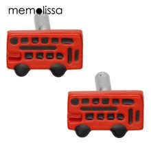 Запонки memolissa в форме автобуса красные 3 пары