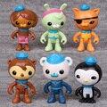 6 шт./лот 6-7 см аниме фильм цифра Octonauts действие рис установить коллекционная модель игрушки для мальчиков