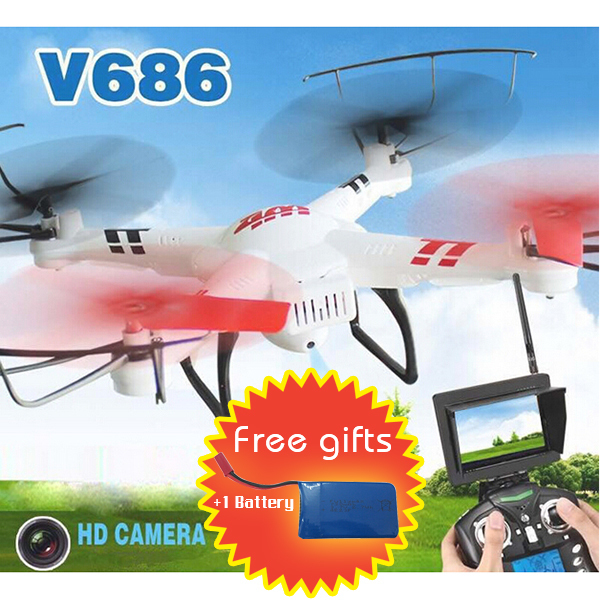 WLtoys V686 V686G FPV Headless Mode 4CH 5.8G Real Time Drone Helicopter  RC Quadcopter with 2.0MP Camera