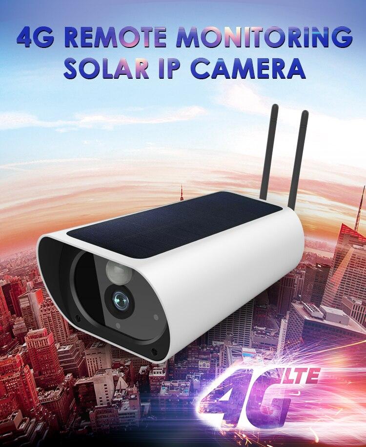 2MP  Solar Power 4g  Sim Card Outdoor IP Cameras No Power No Network P2P Waterproof Surveillance Cameras Rechargeable Camera