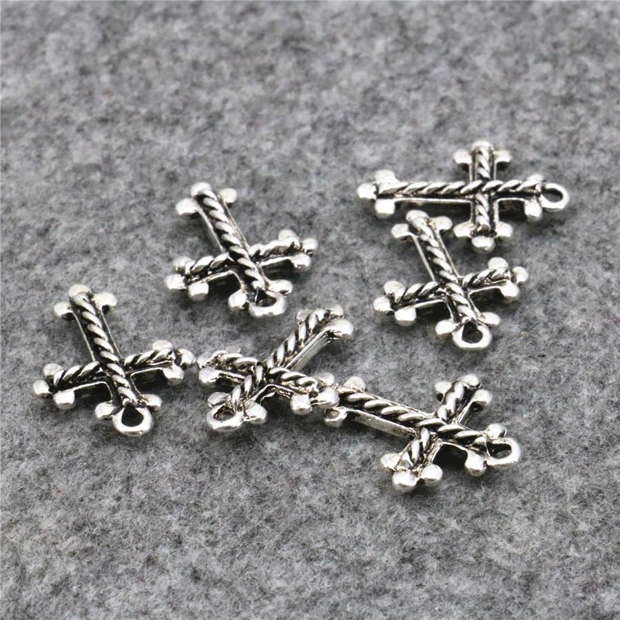 Resultados Da jóia 10 PCS Kaddish Soltas DIY Encontrar Acessórios de Cobre  Sorte Cruz Colar de Pingente de Design de Jóias de Metal 15x20mm 2996bf33074