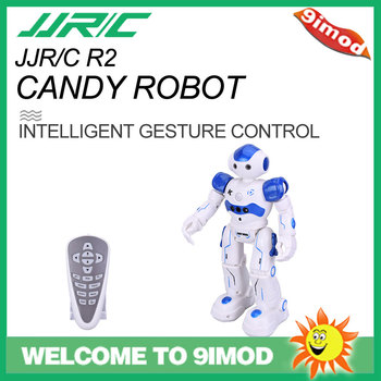JJRC R2 CADY WINI Gesture Control Intelligent Programming RC Robot Singing Dancing Toy Blue Auto Display
