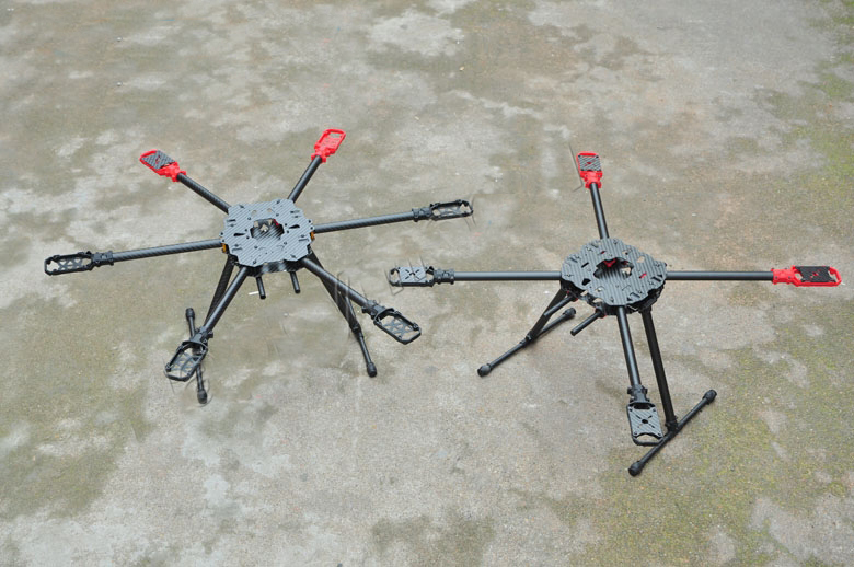 Hummingbird HM650 fibra de carbono dobrável Hexrcopter / seis eixos Rack / Multicopter ( superiores ao Tarot 650 )
