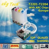 220 CISS Für T2201 T2204  Ink System Für Epson WF 2630 WF 2650 WF 2660 XP 320 XP 420 XP 424  mit ARC Chips [Amerika] Fortlaufendes Tinten-Versorgungssystem Computer und Büro -
