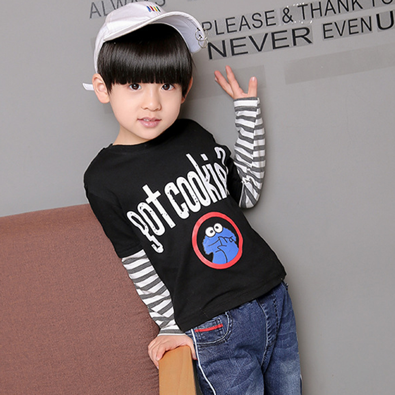 Spring Autumn Baby Boys T Shirt Casual Pullover Kids Clothes Infan T-Shirt Baby Tops Tee Children Tshirt Long Sleeve Fashion