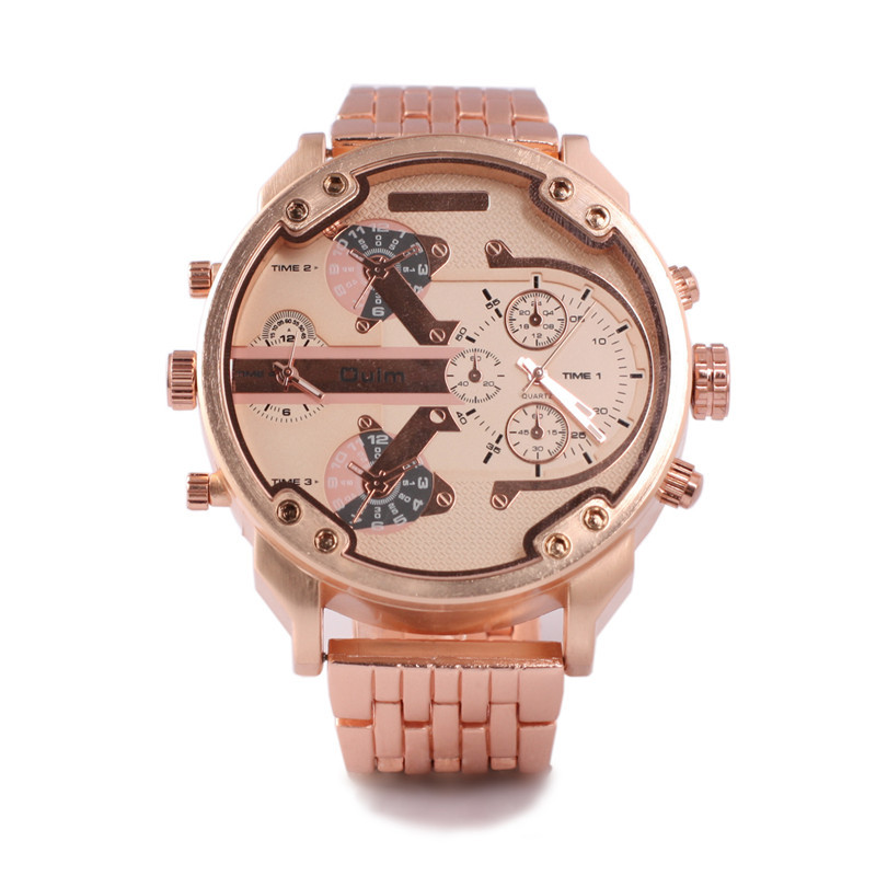 compare prices on mens oversized watches online shopping buy low 1pc lot brand oulm 3548 mens oversized dial fashion watches unique design luxury rose gold