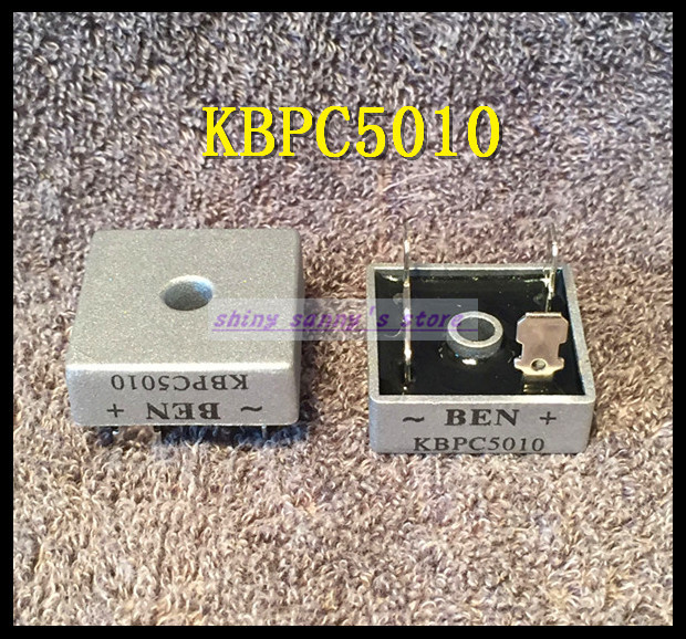 10pcs/Lot KBPC5010 50A 1000V Metal Case Bridge Rectifier brand new
