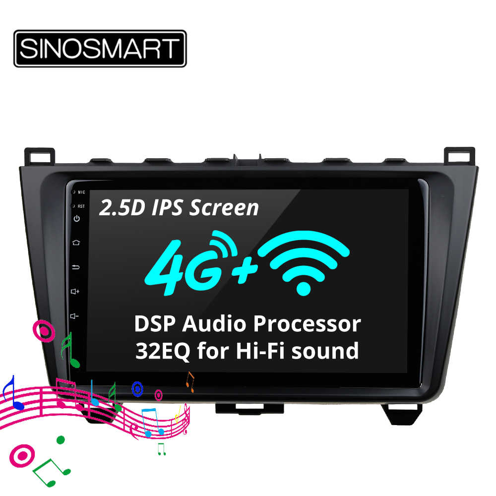 SINOSMART Support BOSE Audio System 4G SIM Card 32EQ DSP 2.5D IPS 2G/4G RAM Car GPS Navigation Player for Mazda 6 2008-2015