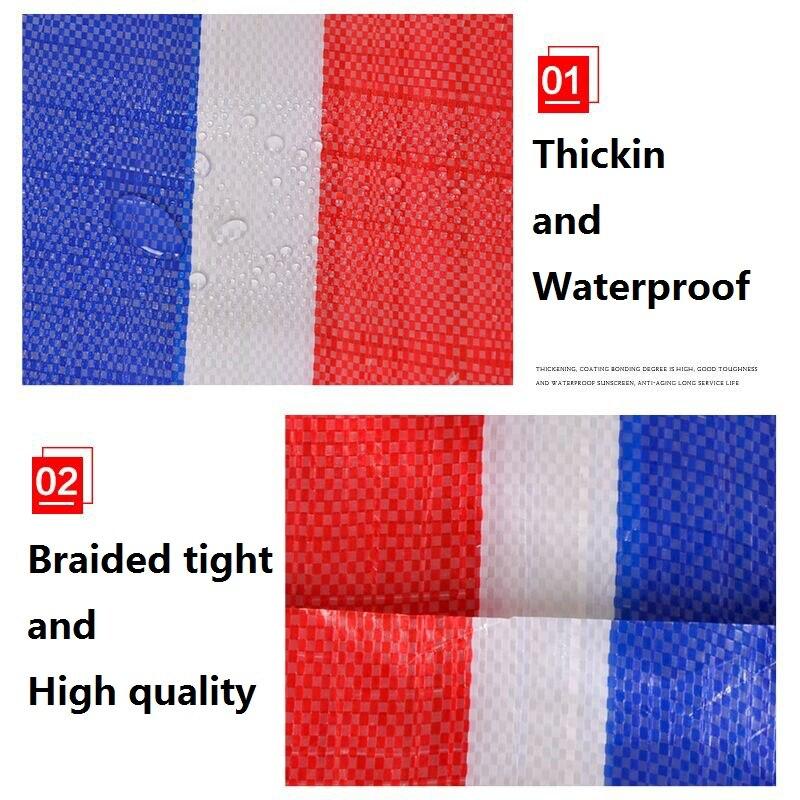3M x 5 m клеенка 100% водонепроницаемая ткань PE пластик Полин 100% Непромокаемая ткань 3 цветные ленты полоса Прорезиненная Ткань Цветок затенение - 5