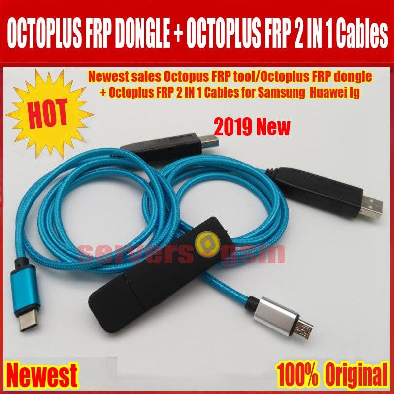 2019 Le Plus Récent des ventes D'ORIGINE Octopus FRP outil/Octoplus FRP dongle + Octoplus FRP USB UART 2 DANS 1 Câbles pour Samsung Huawei lg