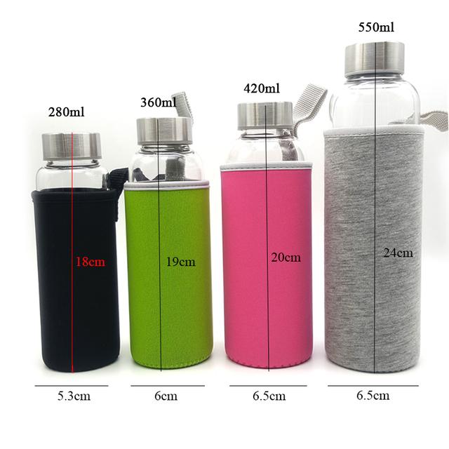 Portable Glass Water Bottle