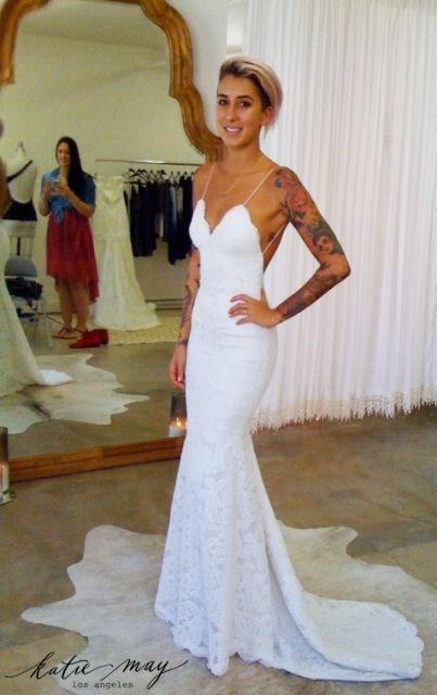 c2d6cf33dd 2016 Sexy Sweetheart Lace Mermaid Beach Wedding Dresses Spaghetti Straps  Backless White Ivory Bride Gowns Floor Length gm5903